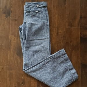 Linen denim trouser pants